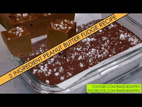 EASY CHOCOLATE PEANUT BUTTER BAR RECIPE - 2 ingredients