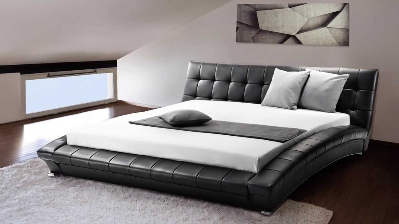 How Big Is A Super King Bed Beliani Super King Size 6 Ft Leather Bed Incl Stable Slatted Frame Lille Eng