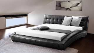 Beliani Super King Size - 6 Ft - Leather Bed - Incl. Stable Slatted Frame - Lille - Eng