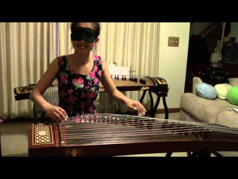 古筝: 高山流水 Guzheng: High Mountain Flowing Water BLINDFOLDED!