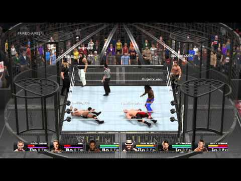 WWE 2K15 Elimination Chamber Triple Threat Tag Team Title Match