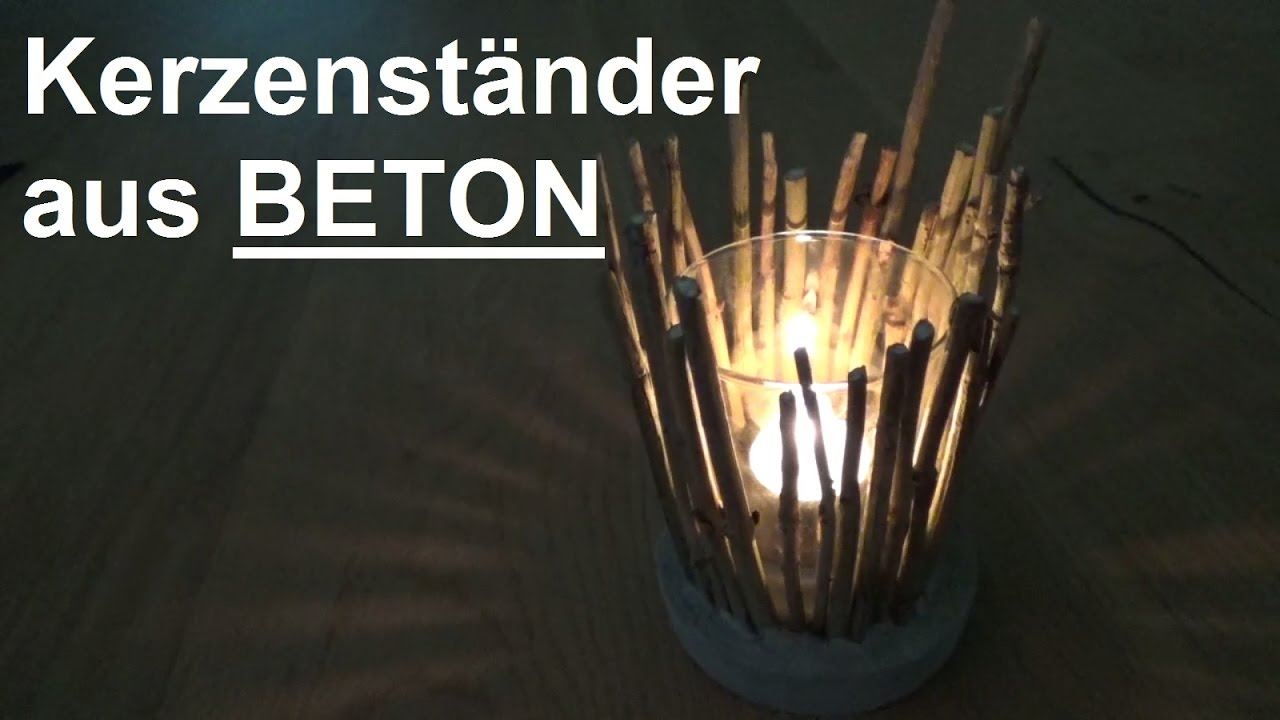 diy beton windlicht kerzenst nder teelichthalter aus beton. Black Bedroom Furniture Sets. Home Design Ideas