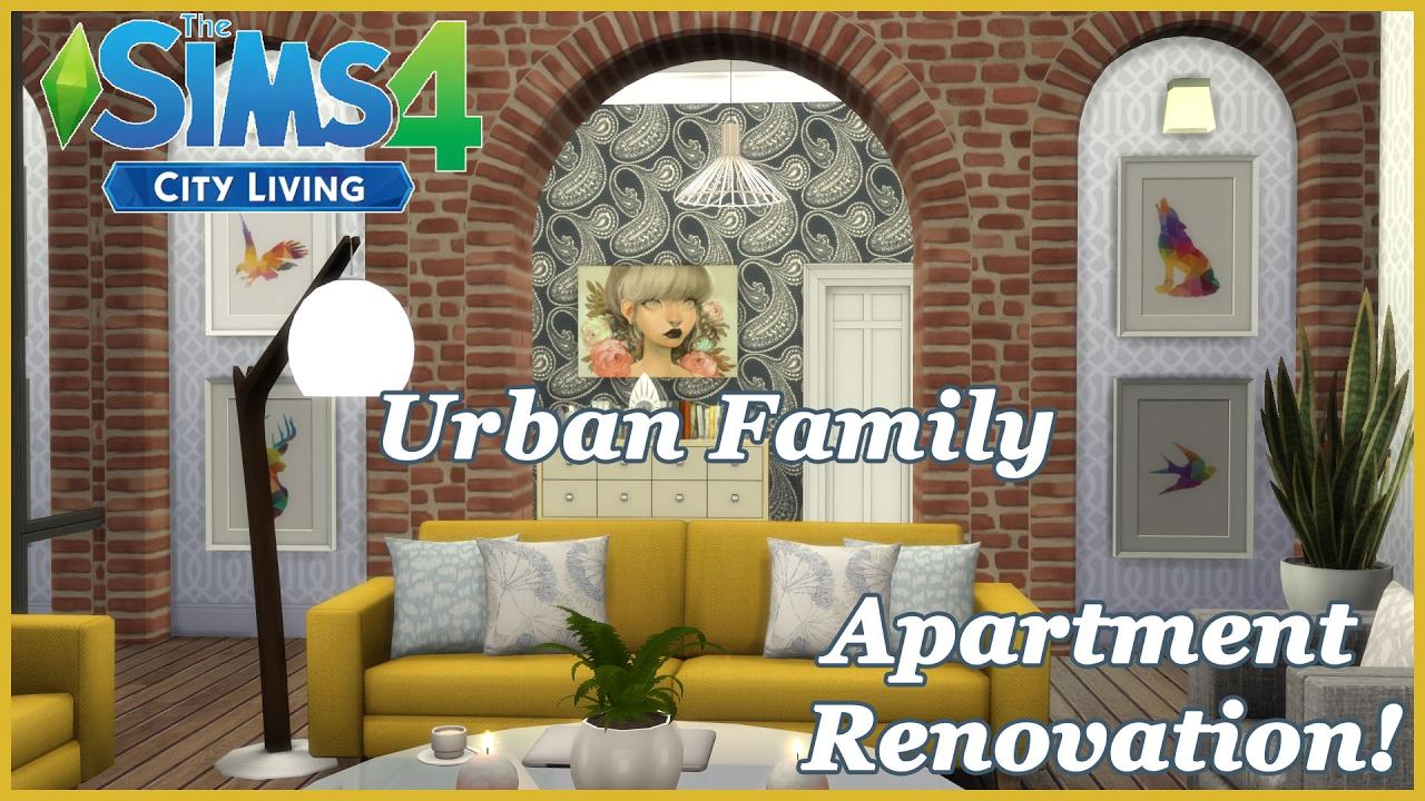 The Sims 4 - City Living - Urban Family! CC (Apartment Renovation!)