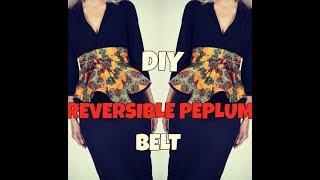 ✂️ ❤️ DIY: REVERSIBLE PEPLUM BELT|DETACHABLE HIGH WAIST BELT|CIRCLE  SKIRT