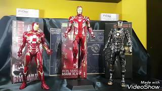 Homem de Ferro CrazyToys, Mark 41, 45, 46 Review Pt Br, IRON-MAN CRAZY TOYS