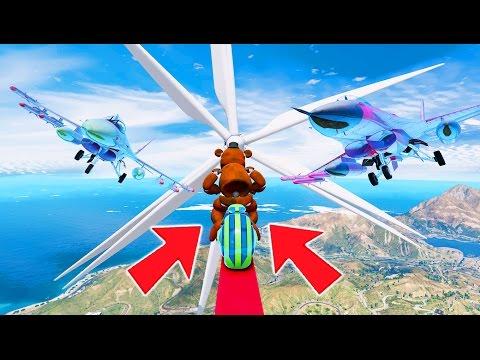 WITHERED FREDDY'S HARDEST DEATHRUN EVER! (GTA 5 Mods For Kids FNAF Funny Moments) RedHatter