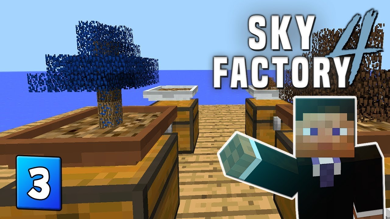 SkyFactory 4 - EP 3 Gold & Latex production - IterationFunk