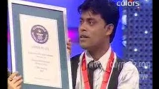 Potesh from Assam creates guinness record by eating 'drinking glass' in 1 minute 27 seconds.flv