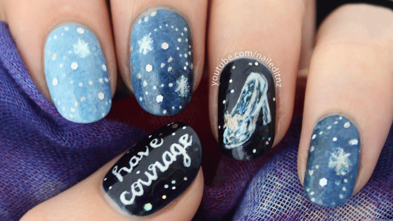 cinderella nail art courage
