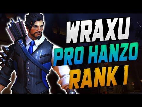 WRAXU BEST HANZO IN THE WORLD!  OVERWATCH SEASON 10 TOP 500