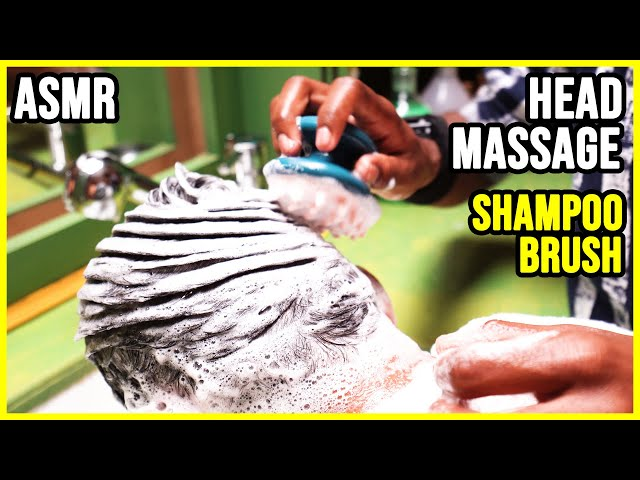 ASMR HEAD MASSAGE with relaxing SHAMPOO and NECK CRACK 🟡No talking DEEP SOUND
