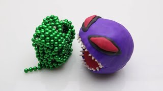 Magnetic Balls VS Monster Magnets in Slow Motion & Stop motion  Bricks Experiment at Home