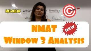 NMAT Window 3 Analysis with NMAT Topper