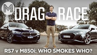 Audi RS7 vs BMW M850i DRAG RACE! | MOTOR