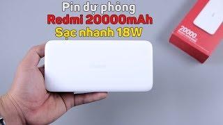 Pin dự phòng Redmi 20000mAh: sạc nhanh 18W, bảo hành cháy nổ, giá siêu rẻ, chỉ 469K
