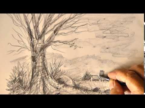 Eine Landschaft zeichnen