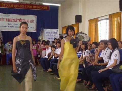 Hội thi thời trang giấy 2010-2011.part 2  -  Trường THCS Đặng Trần Côn