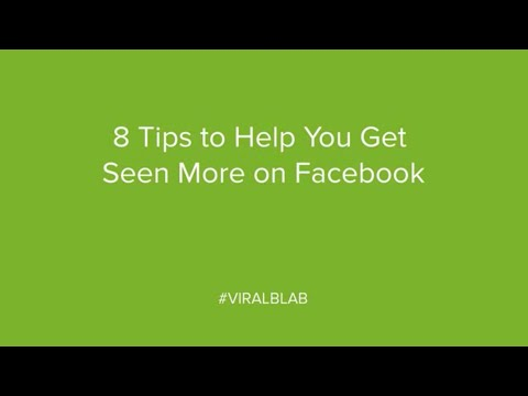 8 Tips to Help You Get Seen More on Facebook