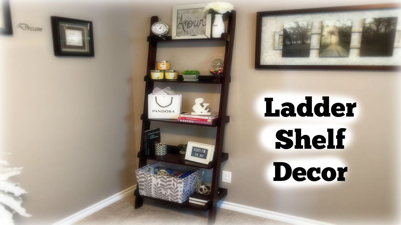 ladder shelf decor youtube