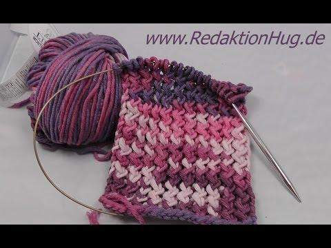 Stricken - Schal im Zick-Zack-Muster aus Montego von ONline-Garne ...