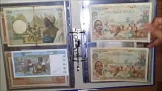 my african banknotes collection