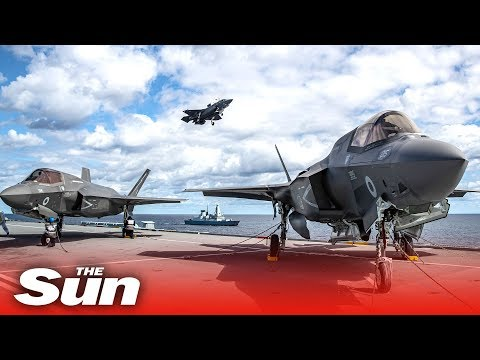 UK's F-35 Lightning Jets Inaugural Carrier Flight | 4K