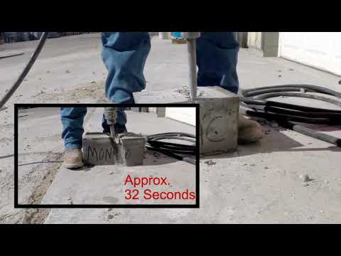Фиброволокно - тест бетона