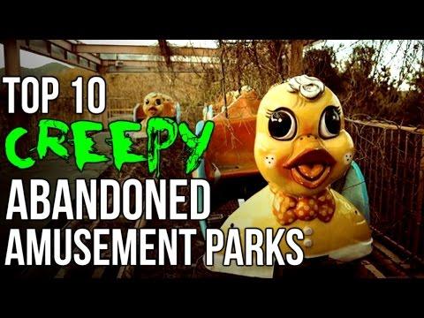 Top 10 CREEPY Abandoned Amusement Parks!