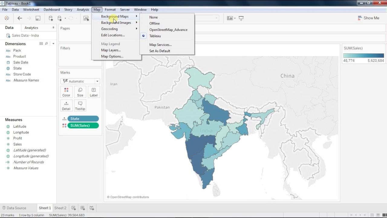 Tableau Beginners Chapter - 7 Map & Mapbox integration