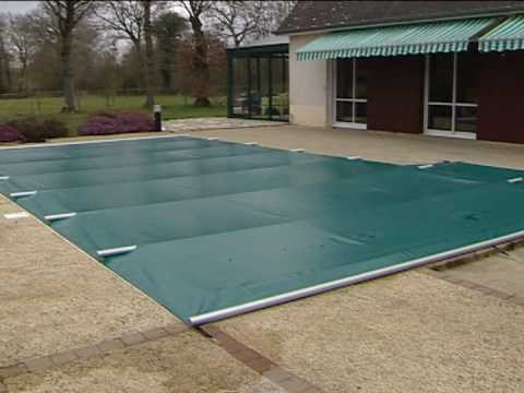 Del mikado couverture barres de s curit s youtube for Bache piscine easy set