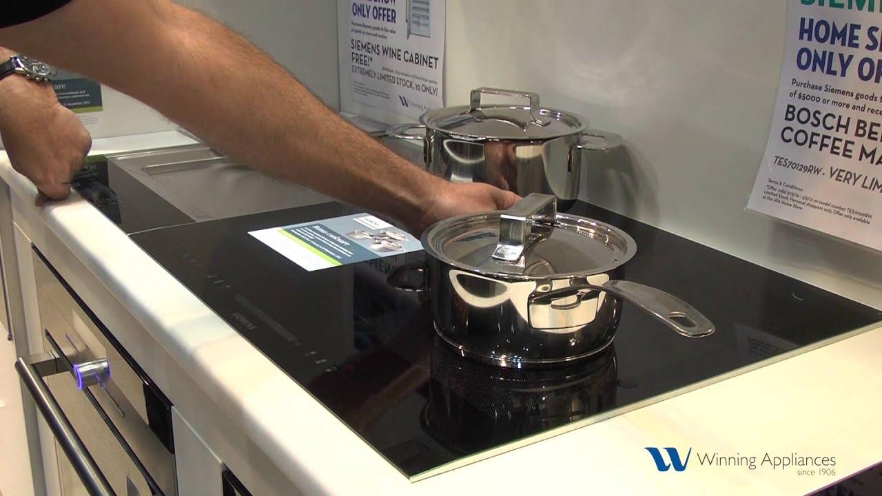 adjustable flexinduction cooktop from siemens winning appliances youtube. Black Bedroom Furniture Sets. Home Design Ideas