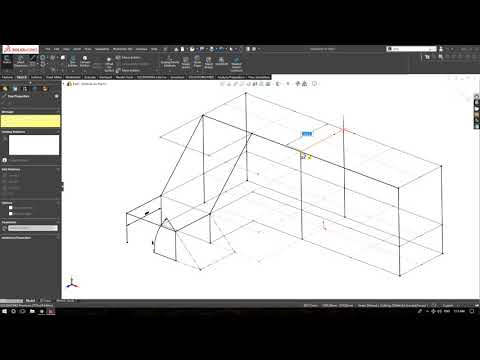SolidWorks 2018 Weldment Example for Structural Fabrication