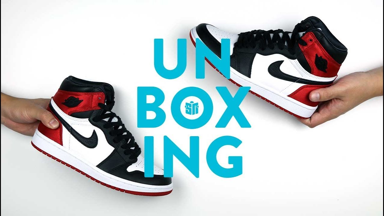 reputable site c10ed af411 Satin Black Toe Air Jordan 1 Unboxing
