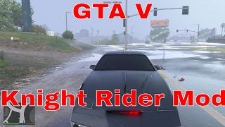 GTA V PC Mods - EXTREME POLICE CHASE!!! GTA V Knight Rider K.I.T.T Gameplay! (GTA V Mods Gameplay)