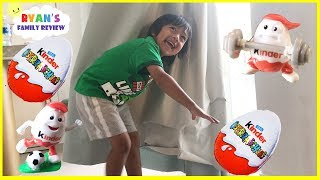 Hide and Seek Kinder Egg Surprise Toy Hunt Parent vs kid! Learn Sports Names with Surprise Eggs