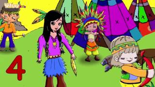 10 Little Indians - 10 kleine Indianer -  Zweisprachiges Kinderlied - Yleekids