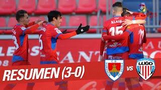 Resumen de CD Numancia vs CD Lugo (3-0)