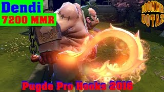 Dota 2 Dendi Pudge Pro Hooks 2016 (Highlights)