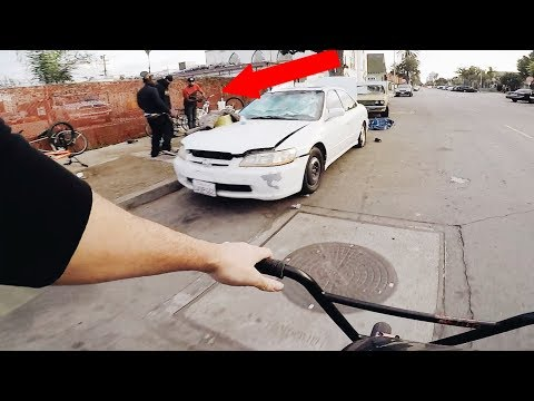 RIDING BMX IN LBC COMPTON'S MOST DANGEROUS NEIGHBORHOODS (BMX IN THE HOOD)