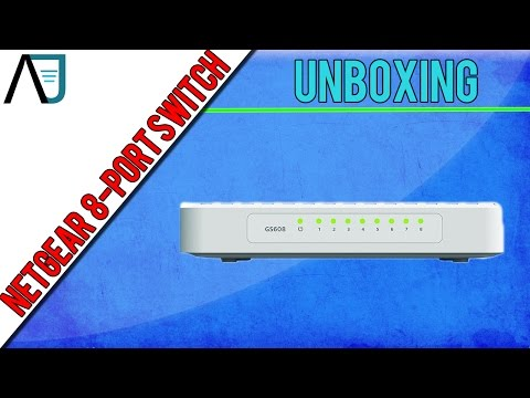 Unboxing: Netgear GS608 8-Port Gigabit Ethernet Switch 1000