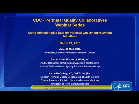 Using Administrative Data for Perinatal Quality Improvement Initiatives