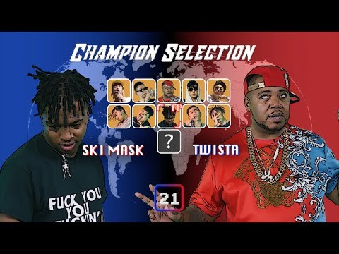 SKI MASK THE SLUMP GOD vs TWISTA BATTLE! - THE FAST RAPPER CHAMPIONSHIP!