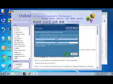 Tutotrial install Oxford Advanced Learner's Dictionary  9th Edition