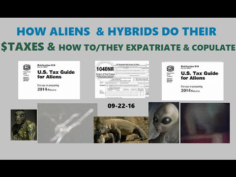 How Aliens And Alien Hybrids File Their Income Taxes Pub 519 Youtube