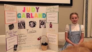 Annabelle Judy Garland   Living Wax Museum Presntation