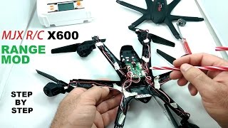 MJX X600 Mini HexaCopter Range Mod - Double Stock Range Tutorial - Step by Step