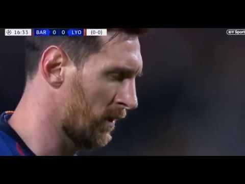 Gol de cavadinha de Messi contra o Lyon