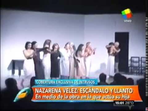La desgarradora imagen de Nazarena Vélez en el debut de su hija