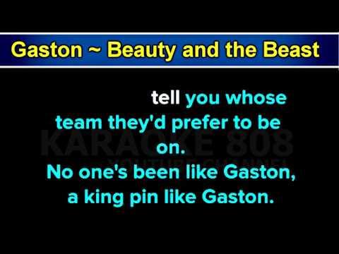 Gaston ~ Beauty and the Beast Disney Karaoke Version ~ Karaoke 808
