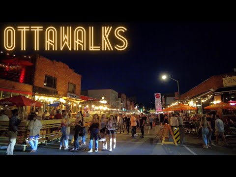 Friday Night in downtown OTTAWA after Ontario reopening step 1 - ByWard Market, Elgin St, Bank St